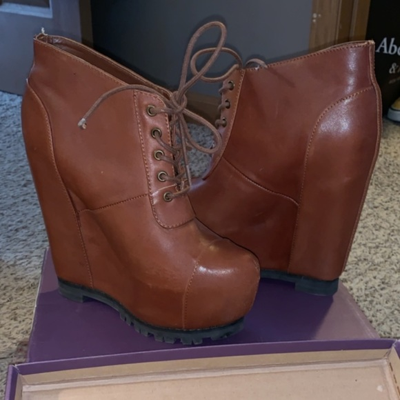 Wild Pair Shoes - Authentic Leather Platform Booties